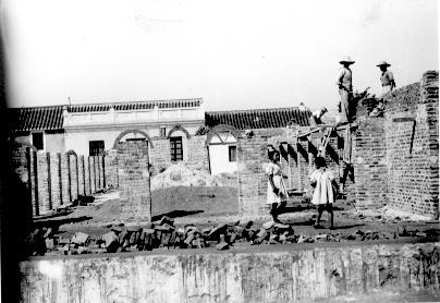 Obras del Antiguo Mercado Municipal, plaza de los Chinorros