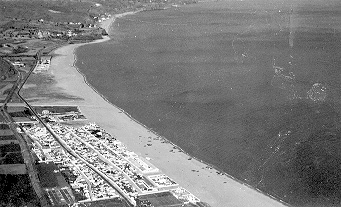 Vista aérea de la playa