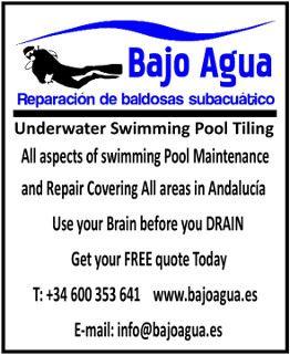Reparación de baldosas subacuático