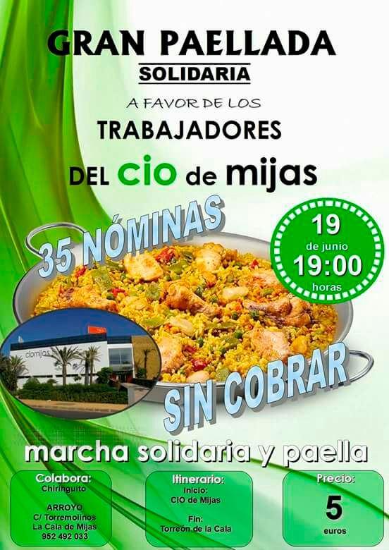 Great solidarity paellada in Mijas