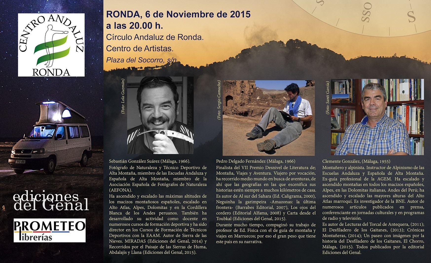 I Festival Itinerante de Literatura de Montaña, Viaje y Aventura - RONDA