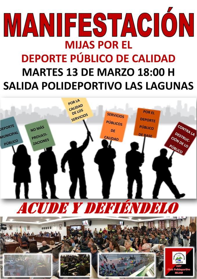 MANIFESTACIÓN POR UN SERVICIO DE DEPORTES DE CALIDAD