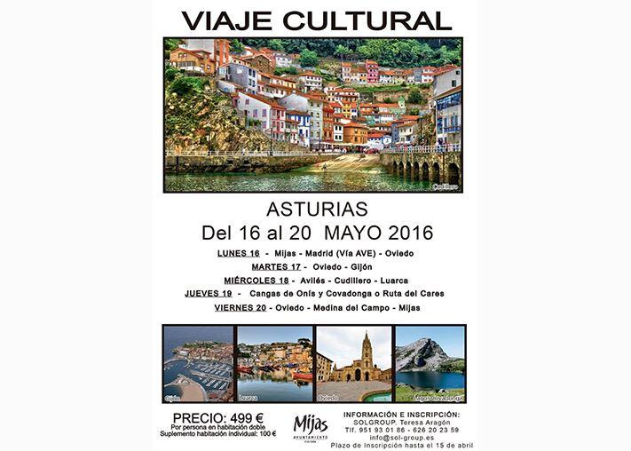 Viaje Cultural Mijas Asturias 16 - 20 Mayo 2016
